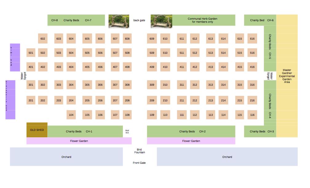 dunwoody community garden and orchard garden layout